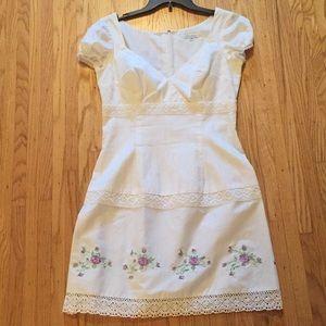 Shoshanna white cotton dress